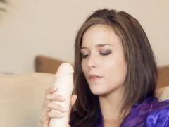 Morgan babe trying brutal toy