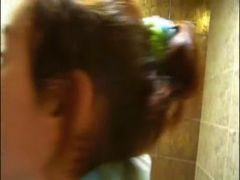 Petite Natasha girl naked at toilet