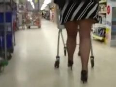 I had a great time following this bootyful sweetheart in black stockings