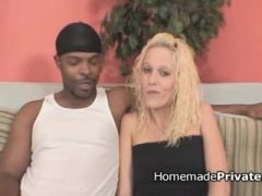 Black dude bangs tight blonde