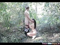 Teens Fuck In The Forest After School