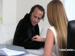 Crazy dude nailed hot casting agent