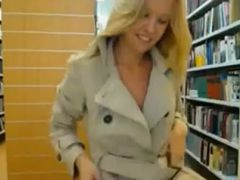 Library flasher caught