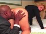 Crazy monster cock fucked hard