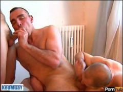 2 french sports guys with huge cock get sucking our assistant...