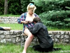 Breasty and beautful big beautiful woman Rebecca punishes sub