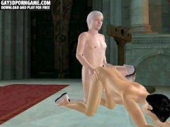 Horny 3D cartoon hunk getting fucked anally