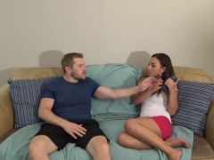 Hot babe banged by her stepbrother