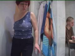 Mom and Son\'s friend having sex in toilet