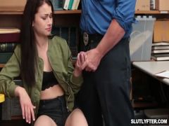 Jennifer bangs the officer to be free