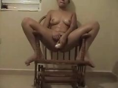 Puerto Rican Girl Playing With Dildo At Home 2
