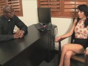 Horny Brunette Binky Bangs Gets Fucked In The Office