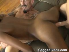 White Dicks Inserted In To Both Ends Of Black Stephinne Reigns
