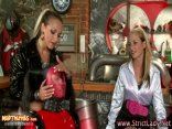 Dominas sissify and whip loser