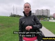 eurobabe outdoorfucked by fake agent
