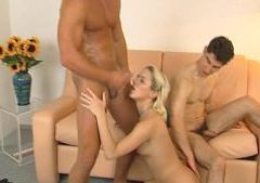 Blonde gets her fill