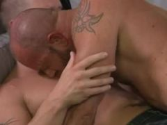Buddies with cock deeply inserted in his asshole