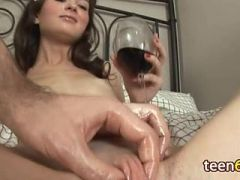 beautiful brunette with swollen pussy