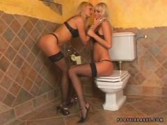 Piss: Sophie and May Foot Fetish Lesbian