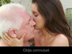 Young slut fucked by old man