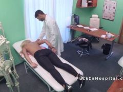 Doctor fucks big boobs blonde in office